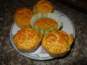 Gluten Free Rice Four Lemon Poppy Seed Muffins and Cakes